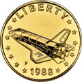 U.S. Mint Medals, 1988-P MEDAL Gold Space Shuttle, Young Astronauts, Uncertified....