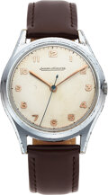Timepieces:Wristwatch, Jaeger LeCoultre Chromium Plate and Stainless Steel, Manua...