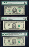 Fr. 1980-B $5 1988A Federal Reserve Notes. Three Examples. PMG Gem Uncirculated 66 EPQ. ... (Total: 3 notes)