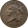 Half Cents, 1793 1/2 C C-3, B-3, R.3 -- Scratched -- ANACS. VF30 Details....
