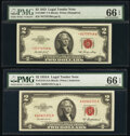 Small Size:Legal Tender Notes, Fr. 1509* $2 1953 Legal Tender Star Note. PMG Gem Uncirculated 66 EPQ;. Fr. 1510 $2 1953A Legal Tender Note. PMG Gem Uncir... (Total: 2 notes)