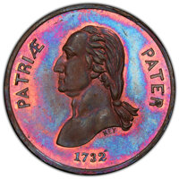 (c. 1858) Medal George Washington, Sprite and Sea Serpent, Baker-633B, Musante GW-228, MS66 Red and Brown PCGS. Bronze...