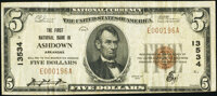 Ashdown, AR - $5 1929 Ty. 1 The First National Bank Ch. # 13534 Very Fine