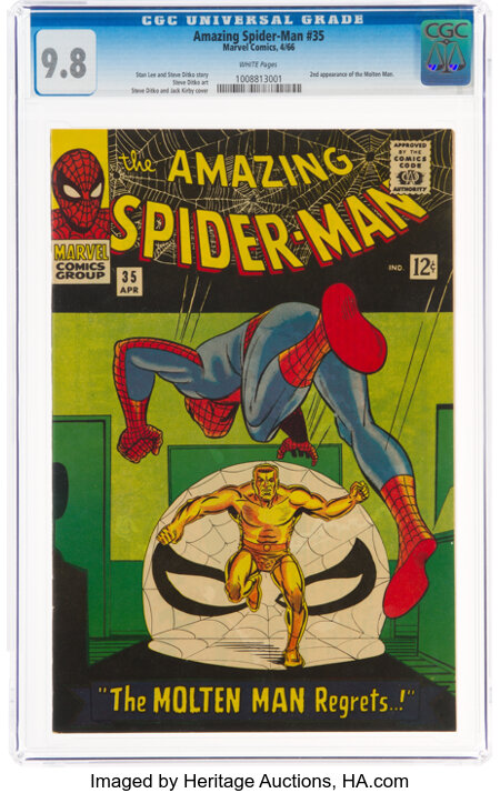 The Amazing Spider-Man #35 (Marvel, 1966) CGC NM/MT 9.8 White pages....