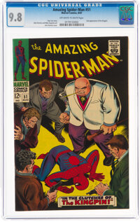 The Amazing Spider-Man #51 (Marvel, 1967) CGC NM/MT 9.8 Off-white to white pages