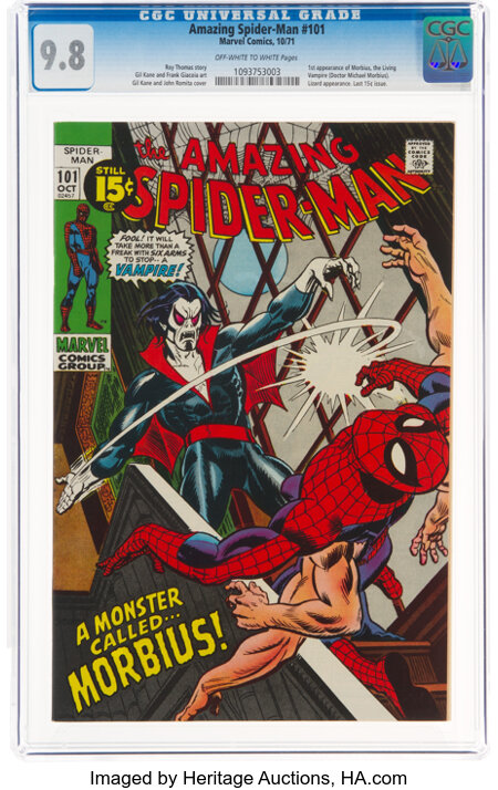 The Amazing Spider-Man #101 (Marvel, 1971) CGC NM/MT 9.8 Off-white to white pages....