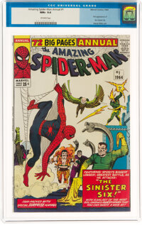 The Amazing Spider-Man Annual #1 (Marvel, 1964) CGC NM+ 9.6 Off-white pages
