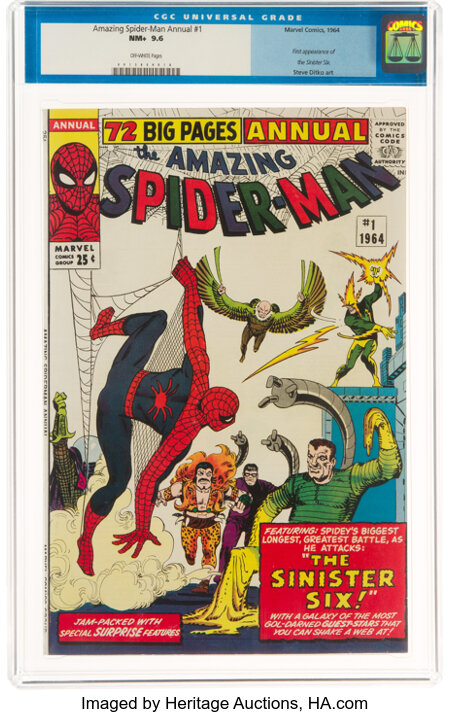 The Amazing Spider-Man Annual #1 (Marvel, 1964) CGC NM+ 9.6 Off-white pages....