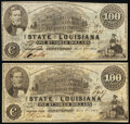 Shreveport, LA- State of Louisiana $100 Mar. 10, 1863 Cr. 11 Two Examples Very Fine. ... (Total: 2 notes)