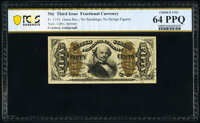 Fr. 1331 50¢ Third Issue Spinner Courtesy Autograph PCGS Banknote Choice Unc 64 PPQ