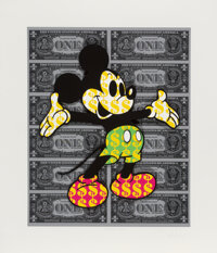 Ben Allen (b. 1979) Monster Mickey 3D, 2021 3D cut giclee in colors on Archival paper 28 x 24 inches (71.1 x 61 cm) (