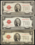 Fr. 1505* $2 1928D Legal Tender Star Notes. Two Examples. Fine; Very Fine-Extremely Fine; Fr. 1508* $2 1928G Legal Tende...