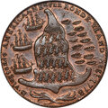 Colonials, 1779 Rhode Island Ship Token, No Wreath, Brass, MS62 Red and Brown. PCGS. CAC. Betts-562, W-1730, R.4....