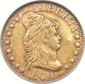 1806 $5 Pointed 6, 8x5 Stars, BD-1, R.4 -- Reverse Damage -- NCS. XF Details....(PCGS# 45621)