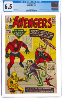 The Avengers #2 (Marvel, 1963) CGC FN+ 6.5 White pages