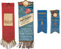 Political:Ribbons & Badges, Grover Cleveland: Group of Inaugural Ribbons. ...