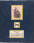 Political:Presidential Relics, Abraham Lincoln: Three Strands of Hair....