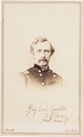 Photography:CDVs, George Armstrong Custer: CDV by Brady's National Photographic Portrait Galleries....