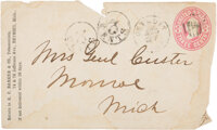 George Armstrong Custer: Signed Envelope to His Wife