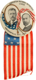 """Political:Pinback Buttons (1896-present), Roosevelt & Fairbanks: 1 3/4""""Indianapolis Convention Jugate. ..."""