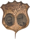 Political:Small Miscellaneous (pre-1896), Hayes & Wheeler: Ferrotype Jugate....