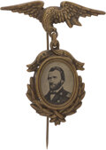 Political:Ferrotypes / Photo Badges (pre-1896), Ulysses S. Grant: 1872 Dated Ferrotype Badge. ...