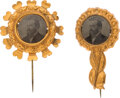 Political:Ferrotypes / Photo Badges (pre-1896), James A. Garfield: Pair of Ferrotype Badges.... (Total: 2 Items)