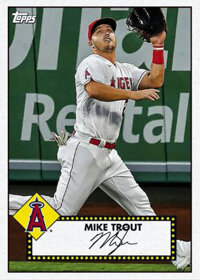 2021 Topps MLB Digital NFT Mike Trout 1952 Topps Redux Series 1 - #'d 1/600