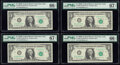 Fr. 1902-B $1 1963B Federal Reserve Notes. Nineteen Examples. PMG Graded. ... (Total: 19 notes)