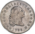 Early Dollars, 1795 $1 Flowing Hair, Three Leaves, B-5, BB-27, R.1 -- Obverse Cleaned -- NGC Details. XF....