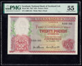 Scotland National Bank of Scotland Limited 20 Pounds 1.11.1957 Pick 263 PMG About Uncirculated 55