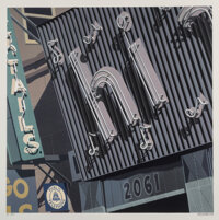 Robert Cottingham (b. 1935) Hi, from Signs, 2009 Screenprint in colors on wove paper 37 x 37-1/4 inches (94 x 94