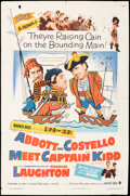 """Movie Posters:Comedy, Abbott and Costello Meet Captain Kidd (Warner Bros., 1953). Folded, Fine. One Sheet (27"""" X 41""""). Comedy.. ..."""
