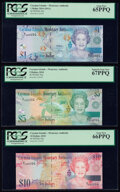 Matching Serial Numbers Cayman Islands Monetary Authority 1; 5; 10; 25; 50; 100 Dollars 2010 Pick 38a; 39a; 40a; 41a; 42...