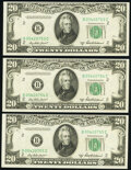 Small Size:Federal Reserve Notes, Fr. 2061-B $20 1950B Federal Reserve Notes. B-C Block. Three Consecutive Examples. Choice Crisp Uncirculated.. ... (Total: 3 notes)