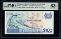Singapore Board of Commissioners of Currency 100 Dollars ND (1977) Pick 14 TAN#B-6a PMG Choice Uncirculated 63 EPQ