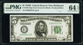Fr. 1952-E $5 1928B Federal Reserve Note. PMG Choice Uncirculated 64 EPQ