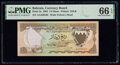 World Currency, Bahrain Currency Board 1/4 Dinar 1964 Pick 2a PMG Gem Uncirculated 66 EPQ.. ...