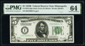 Small Size:Federal Reserve Notes, Fr. 1952-I $5 1928B Federal Reserve Note. PMG Choice Uncirculated 64.. ...