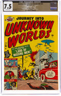 Golden Age (1938-1955):Horror, Journey Into Unknown Worlds #38 (#3) The Promise Collection Pedigree (Atlas, 1951) CGC VF- 7.5 Off-white pages....