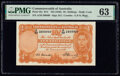 World Currency, Australia Commonwealth Bank of Australia 10 Shillings ND (1949) Pick 25c R14 PMG Choice Uncirculated 63.. ...
