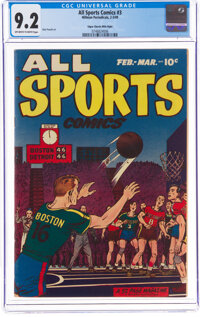 All Sports Comics #3 Mile High Pedigree (Hillman, 1949) CGC NM- 9.2 Off-white to white pages
