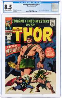 Journey Into Mystery #124 (Marvel, 1966) CGC VF+ 8.5 Off-white to white pages