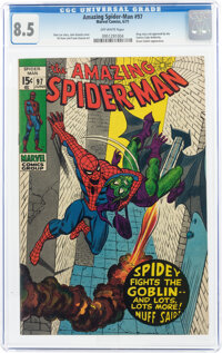 The Amazing Spider-Man #97 (Marvel, 1971) CGC VF+ 8.5 Off-white pages