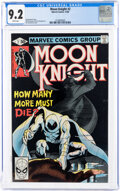 Modern Age (1980-Present):Superhero, Moon Knight #2 (Marvel, 1980) CGC NM- 9.2 White pages....