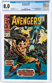 The Avengers #39 (Marvel, 1967) CGC VF 8.0 Off-white pages