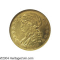 Early Half Eagles: , 1807 $5 Bust Left--Cleaned--ANACS. AU Details, Net XF45. ...