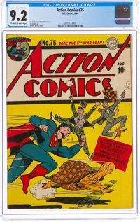 Action Comics #75 (DC, 1944) CGC NM- 9.2 Off-white to white pages