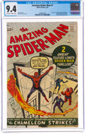 Silver Age (1956-1969):Superhero, The Amazing Spider-Man #1 (Marvel, 1963) CGC NM 9.4 Off-white to white pages....