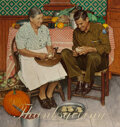 Paintings, Norman Rockwell (American, 1894-1978). Home for Thanksgiving, The Saturday Evening Post cover, November ...